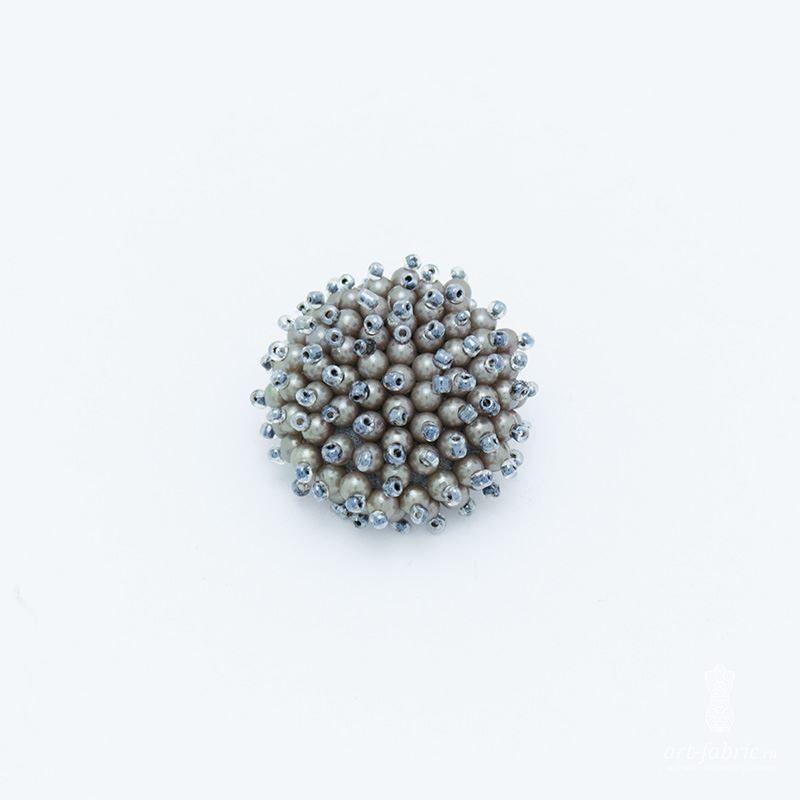 0ec7e140e34a Купить Пуговицы из бисера, бледно-лиловый, 35 мм (004983)