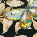 Поплин именной, купон (бабочки-светлячки в листве) (008747)