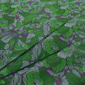 Жаккард шелковый (волнующая зелень в фиолете) (008751)