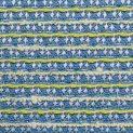 Рогожка хлопковая (лимонные полосочки на синем) (008947)