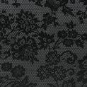Шерсть костюмная (черный гипюр) (009008)