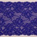 Кружево эластичное, 165 мм, синий электрик (цветы) (009154)