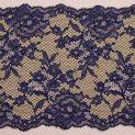 Кружево эластичное, 160 мм, т.син-телесный (цветы) (009155)