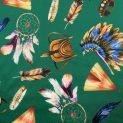 Атлас-стрейч шелковый (индейские страсти) (009580)