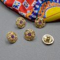 Пуговицы металлические, золото (14мм) (005642)