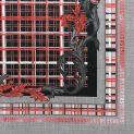 Ткань плащевая Versus, купон (красная клетка) (010238)