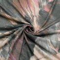 Трикотаж вязаный, вискозный (розовые джунгли) (010284)