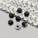 Пуговицы пластиковые, черный лак, 18 мм (010383)