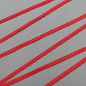 Резинка отделочная 12 мм, красный, 605/12 (100) (010759)