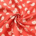 Жаккард костюмный (нарядно-алый в цветочек) (010863)