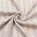 Рогожка именная Сhanel (мятно-персиковая пастель) (011069)