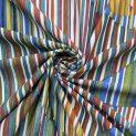 Трикотаж набивной, микрофибра (радужные оригами) (011201)