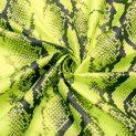 Ткань плащевая именная Off-White (неоновая кобра) (011210)