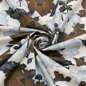 Трикотаж набивной, микрофибра (дымчато-карие водяные маки) (011240)